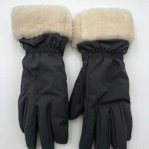 Ugg Womens Gloves Size L XL Gray Cream
